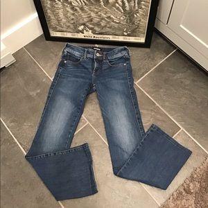 Express Boot Cut Blue Jean Low Rise Flare SZ00